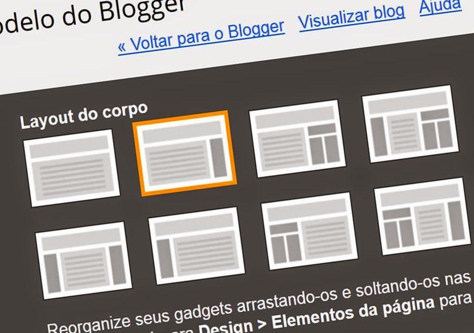 Como escolher um bom layout de blog